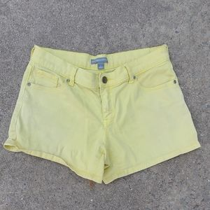 Yellow classic styled shorts